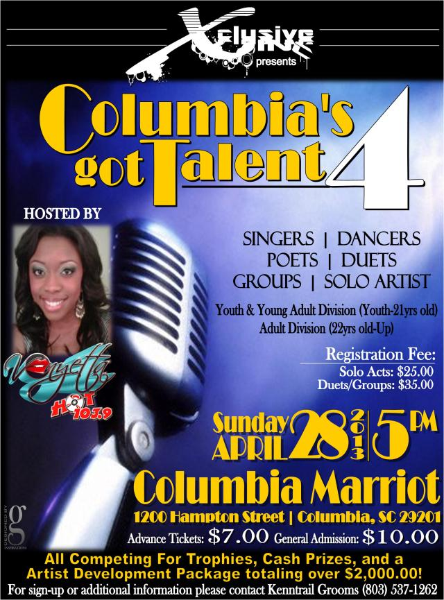 Columbia's Got Talent 4 Flyer