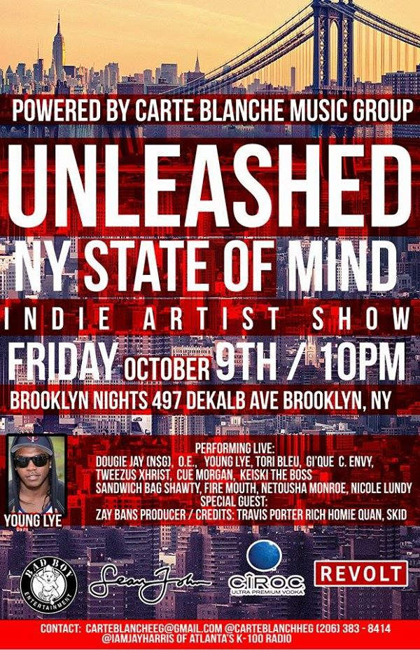 Carte Blanche Music Group Unleashed State of Mind Official Flyer 2