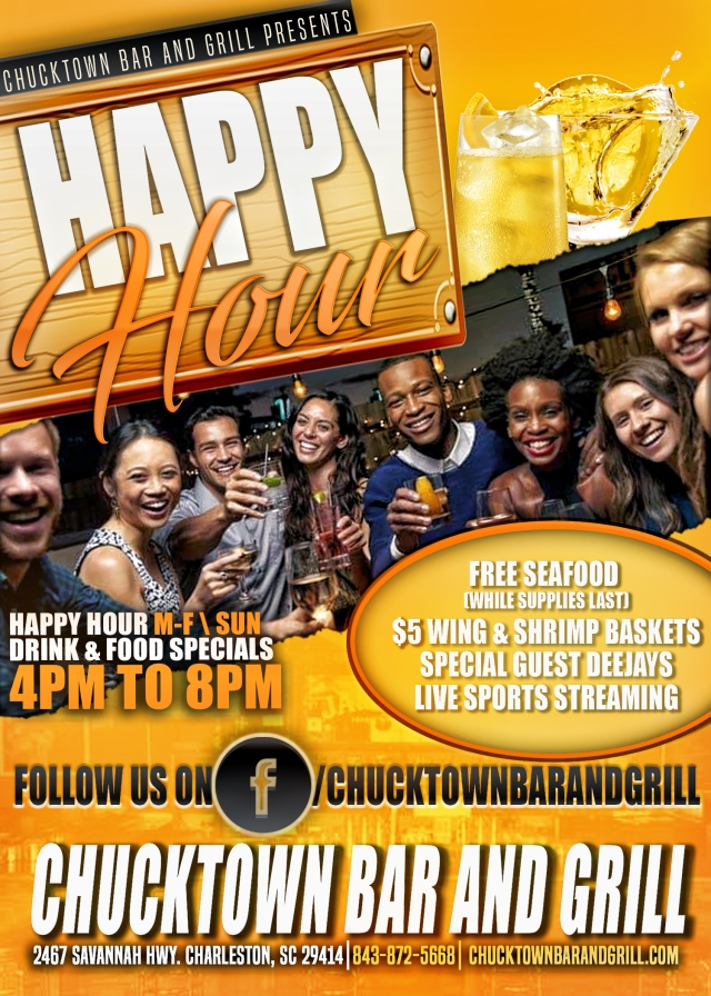 Chucktown Bar and Grill Happy Hour flyer revise_